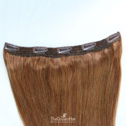 One Piece of Quadruple Weft, Extra Large And Extra Thick, Clip in Hair Extensions, Color #6 (Medium Brown)