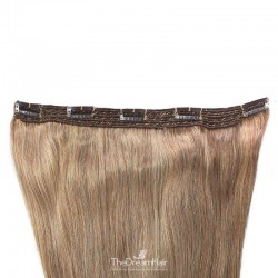 One Piece of Quadruple Weft, Extra Large And Extra Thick, Clip in Hair Extensions, Color #8 (Chestnut Brown)