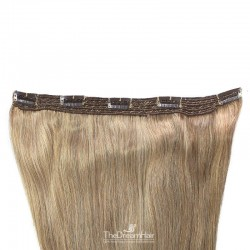 One Piece of Quadruple Weft, Extra Large And Extra Thick, Clip in Hair Extensions, Color #12 (Light Brown)