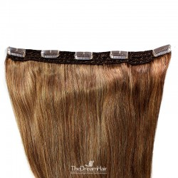 One Piece of Quadruple Weft, Extra Large And Extra Thick, Clip in Hair Extensions, Color #30 (Dark Auburn)