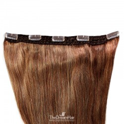 One Piece of Quadruple Weft, Extra Large And Extra Thick, Clip in Hair Extensions, Color #33 (Auburn)