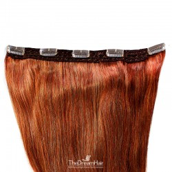 One Piece of Quadruple Weft, Extra Large And Extra Thick, Clip in Hair Extensions, Color #350 (Dark Copper Red)