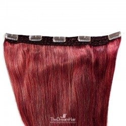 One Piece of Quadruple Weft, Extra Large And Extra Thick, Clip in Hair Extensions, Color #530 (Red Wine)