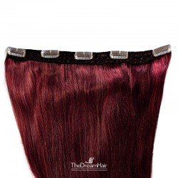 One Piece of Quadruple Weft, Extra Large And Extra Thick, Clip in Hair Extensions, Color #99j (Burgundy)