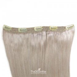 One Piece of Quadruple Weft, Extra Large And Extra Thick, Clip in Hair Extensions, Color #Grey