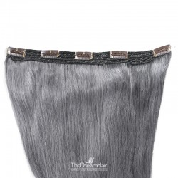 One Piece of Quadruple Weft, Extra Large And Extra Thick, Clip in Hair Extensions, Color #Silver