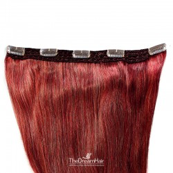 One Piece of Quadruple Weft, Extra Large And Extra Thick Clip in Hair Extensions, Color #Red