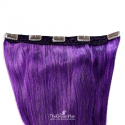 One Piece of Quadruple Weft, Extra Large And Extra Thick, Clip in Hair Extensions, Color #Purple