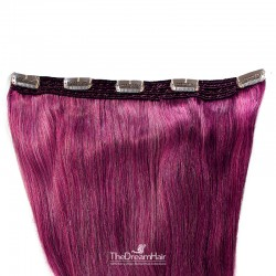 One Piece of Quadruple Weft, Extra Large And Extra Thick, Clip in Hair Extensions, Color #Pink