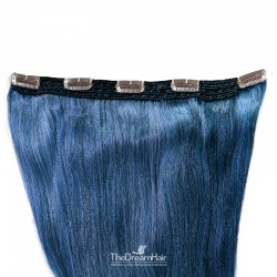 One Piece of Quadruple Weft, Extra Large And Extra Thick, Clip in Hair Extensions, Color #Blue