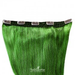 One Piece of Quadruple Weft, Extra Large And Extra Thick Clip in Hair Extensions, Color #Green