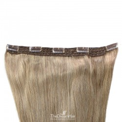 One Piece of Quadruple Weft, Extra Large And Extra Thick, Clip in Hair Extensions, Colour #18 (Light Ash Blonde)