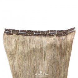 One Piece of Quadruple Weft, Extra Large And Extra Thick, Clip in Hair Extensions, Color #22 (Light Pale Blonde)