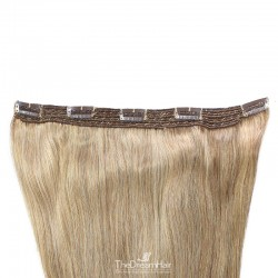 One Piece of Quadruple Weft, Extra Large And Extra Thick, Clip in Hair Extensions, Color #24 (Golden Blonde)
