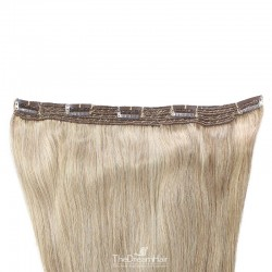 One Piece of Quadruple Weft, Extra Large And Extra Thick, Clip in Hair Extensions, Color #60 (Lightest Blonde)