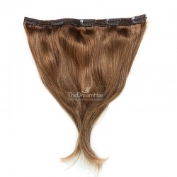 One Piece of Triple Weft, Extra Large And Thick, Clip in Hair Extensions, Color 6 (Medium Brown)