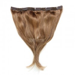 """One Piece of Triple Weft """"Extra-Large"""", Clip-in Hair Extensions, Color #8 (Chestnut Brown), Made With Remy Indian Human Hair"""