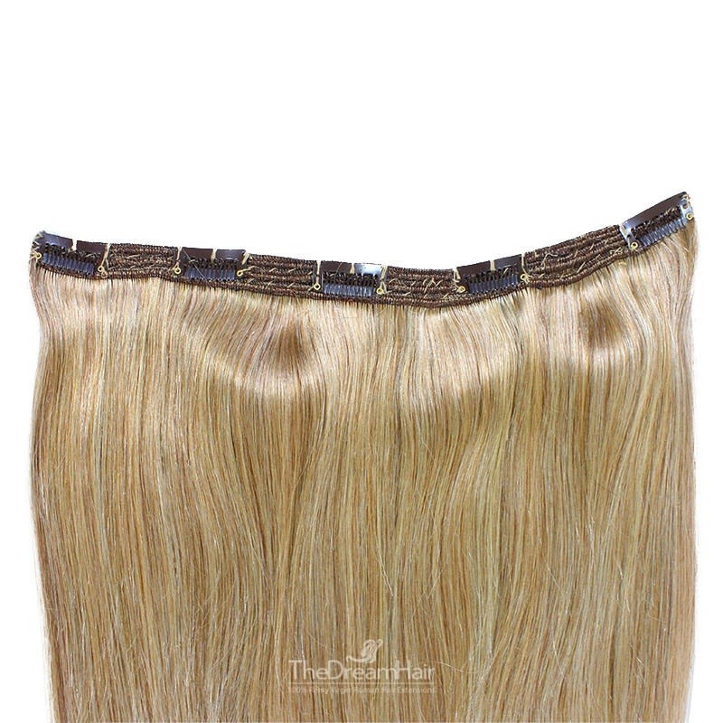 """One Piece of Triple Weft """"Extra-Large"""", Clip in Hair Extensions, Color #12 (Light Brown), Made With Remy Indian Human Hair"""