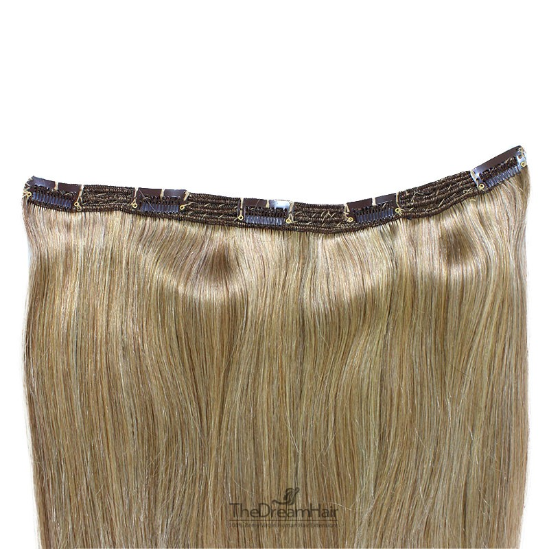 One Piece of Triple Weft, Extra Large And Thick, Clip in Hair Extensions, Color #16 (Medium Ash Blonde)