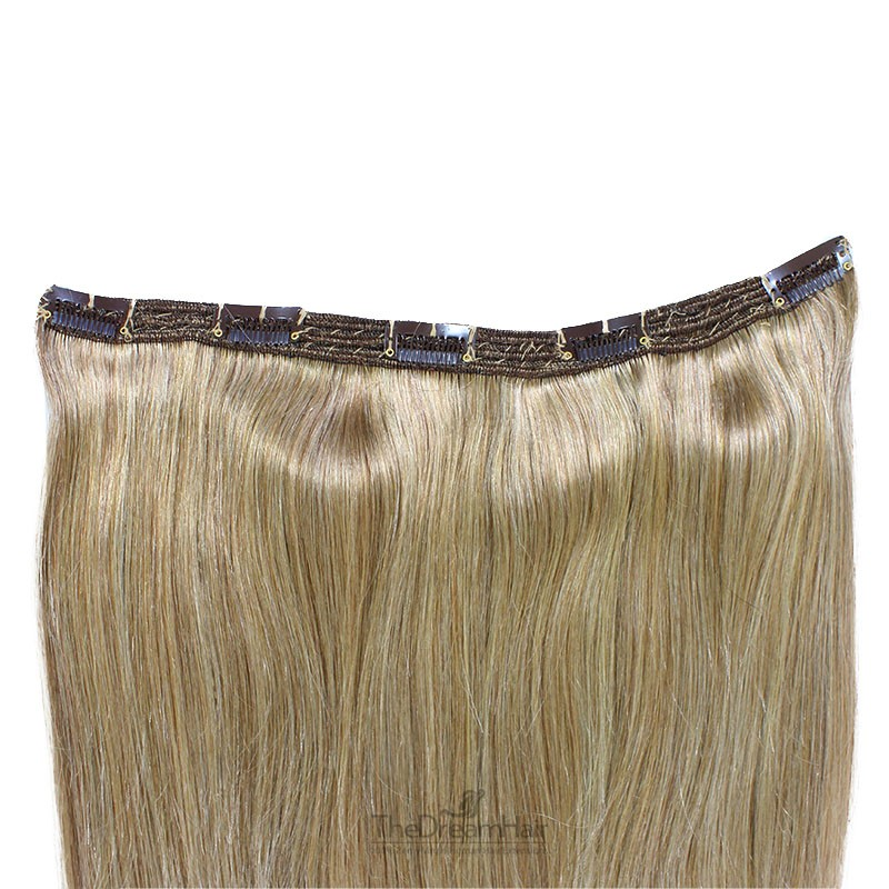 """One Piece of Triple Weft """"Extra-Large"""", Clip in Hair Extensions, Color #18 (Light Ash Blonde), Made With Remy Indian Human Hair"""
