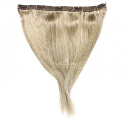 """One Piece of Triple Weft """"Extra-Large"""", Clip in Hair Extensions, Color #22 (Light Pale Blonde), Made With Remy Indian Human Hair"""