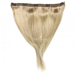 """One Piece of Triple Weft """"Extra-Large"""", Clip in Hair Extensions, Color #24 (Golden Blonde), Made With Remy Indian Human Hair"""