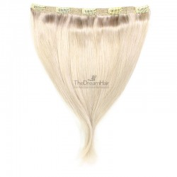 """One Piece of Triple Weft """"Extra-Large"""", Clip in Hair Extensions, Color #60 (Lightest Blonde), Made With Remy Indian Human Hair"""