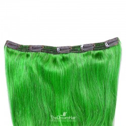 One Piece of Triple Weft, Extra Large And Thick, Clip in Hair Extensions, Color #Green