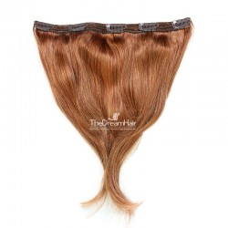 One Piece of Triple Weft, Extra Large And Thick, Clip in Hair Extensions, Color #30 (Dark Auburn)