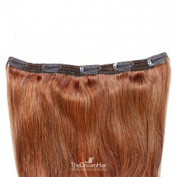 One Piece of Triple Weft, Extra Large And Thick, Clip in Hair Extensions, Color #35 (Red Rust)