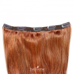 One Piece of Triple Weft, Extra Large And Thick, Clip in Hair Extensions, Color #350 (Dark Copper Red)