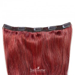 One Piece of Triple Weft, Extra Large And Thick, Clip in Hair Extensions, Color #530 (Red Wine)