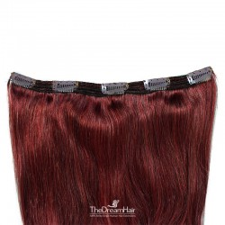 """One Piece of Triple Weft """"Extra-Large"""", Clip in Hair Extensions, Color #99j (Burgundy), Made With Remy Indian Human Hair"""