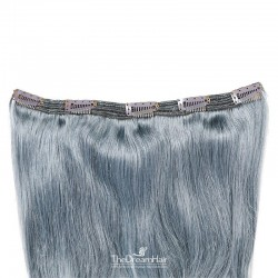 One Piece of Triple Weft, Extra Large And Thick, Clip in Hair Extensions, Color #Silver