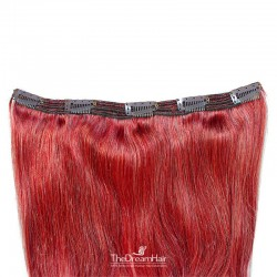 One Piece of Triple Weft, Extra Large And Thick, Clip in Hair Extensions, Color #Red