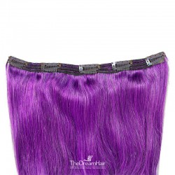 One Piece of Triple Weft, Extra Large And Thick, Clip in Hair Extensions, Color #Purple