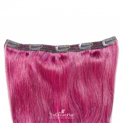 One Piece of Triple Weft, Extra Large And Thick, Clip in Hair Extensions, Color #Pink