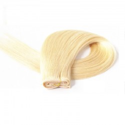 Skin Weft Hair Extensions, Colour #60 (Lightest Blonde), Made With Remy Indian Human Hair