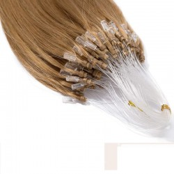 Micro Loop Ring Hair, Color #14 (Dark Ash Blonde), Made With Remy Indian Human Hair