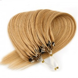 Micro Loop Ring Hair, Color #27 (Honey Blonde), Made With Remy Indian Human Hair