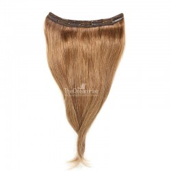 One Piece of Triple Weft, Clip in Hair Extensions, Color #8 (Chestnut Brown), Made With Remy Indian Human Hair