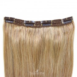 One Piece of Triple Weft, Clip in Hair Extensions, Color #12 (Light Brown), Made With Remy Indian Human Hair