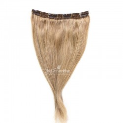 One Piece of Triple Weft, Clip in Hair Extensions, Color #10 (Golden Brown), Made With Remy Indian Human Hair