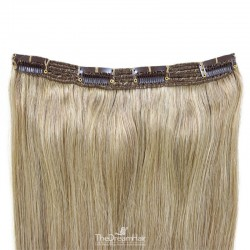 One Piece of Triple Weft, Clip in Hair Extensions, Color #18 (Light Ash Blonde), Made With Remy Indian Human Hair