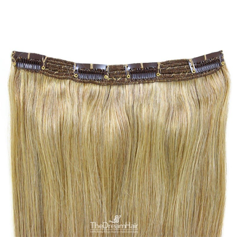 One Piece of Triple Weft, Clip in Hair Extensions, Color #22 (Light Pale Blonde), Made With Remy Indian Human Hair