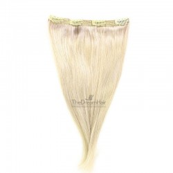 One Piece of Triple Weft, Clip in Hair Extensions, Color #613 (Platinum Blonde), Made With Remy Indian Human Hair
