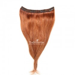 One Piece of Triple Weft, Clip in Hair Extensions, Color #35 (Red Rust), Made With Remy Indian Human Hair