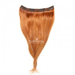 One Piece of Triple Weft, Clip in Hair Extensions, Color #350 (Dark Copper Red), Made With Remy Indian Human Hair