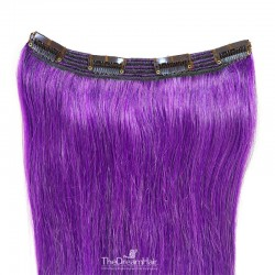 One Piece of Triple Weft, Clip in Hair Extensions, Color #Purple, Made With Remy Indian Human Hair