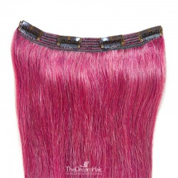 One Piece of Triple Weft, Clip in Hair Extensions, Color #Pink, Made With Remy Indian Human Hair
